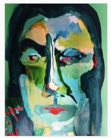 print portrait Isaac Newton